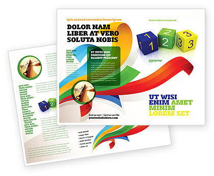123 Brochure Template, 03849, Business Concepts — PoweredTemplate.com
