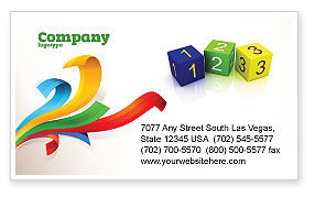 123 Business Card Template, 03849, Business Concepts — PoweredTemplate.com