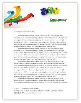 Business Concepts: 123 Letterhead Template #03849