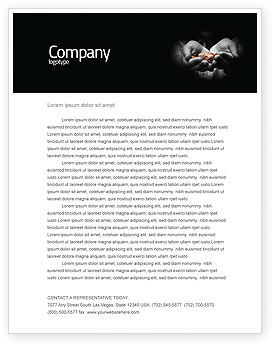 Financial/Accounting: Money Letterhead Template #03850