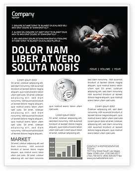 Money Newsletter Template, 03850, Financial/Accounting — PoweredTemplate.com
