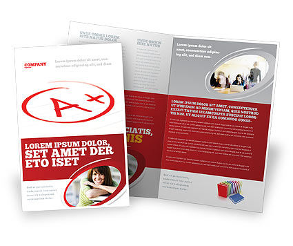Excellent Grade Brochure Template, 03851, Education & Training — PoweredTemplate.com
