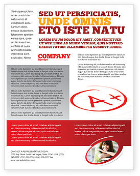 Excellent Grade Flyer Template, 03851, Education & Training — PoweredTemplate.com