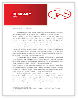 Excellent Grade Letterhead Template, 03851, Education & Training — PoweredTemplate.com