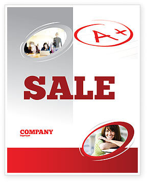 Education & Training: Excellent Grade Sale Poster Template #03851