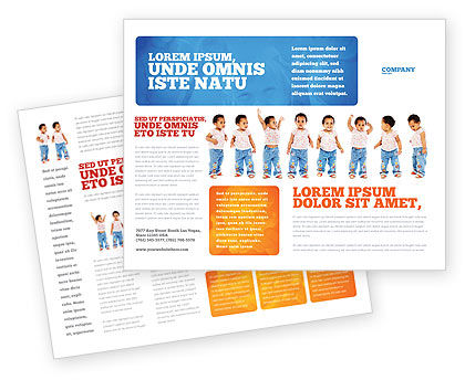 Baby Emotions Brochure Template, 03852, People — PoweredTemplate.com