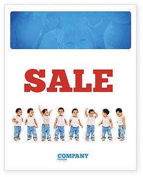 Baby Emotions Sale Poster Template, 03852, People — PoweredTemplate.com