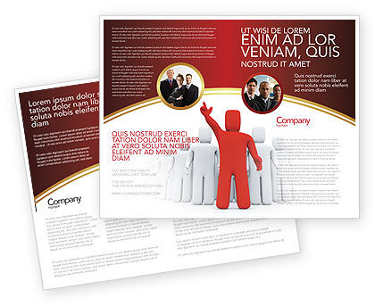 Red Leader Brochure Template, 03853, 3D — PoweredTemplate.com
