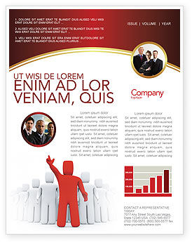 3D: Red Leader Newsletter Template #03853
