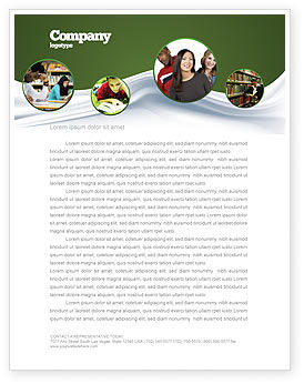 Hard Learning Letterhead Template, 03854, Education & Training — PoweredTemplate.com
