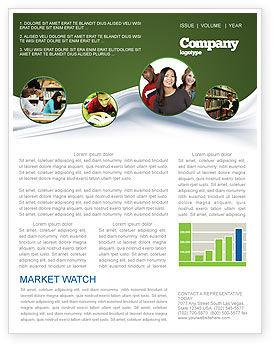 Education & Training: Hard Learning Newsletter Template #03854