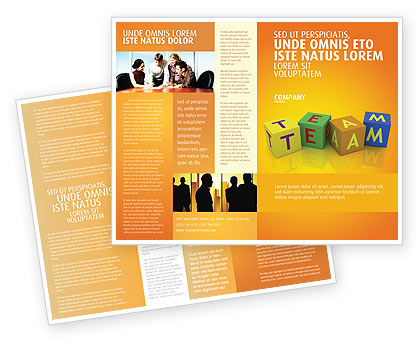 Team Brochure Template, 03855, Business Concepts — PoweredTemplate.com
