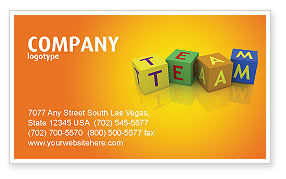Team Business Card Template, 03855, Business Concepts — PoweredTemplate.com