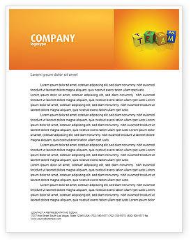 Business Concepts: Plantilla de membrete - equipo #03855