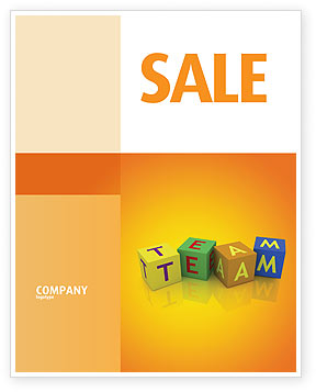 Team Sale Poster Template, 03855, Business Concepts — PoweredTemplate.com