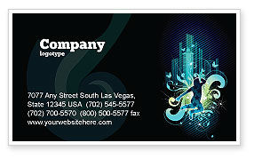 Art & Entertainment: Night City Life Business Card Template #03856