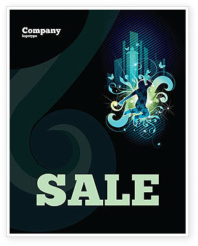 Art & Entertainment: Night City Life Sale Poster Template #03856
