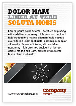 Business Concepts: Brilliant Idea Ad Template #03860