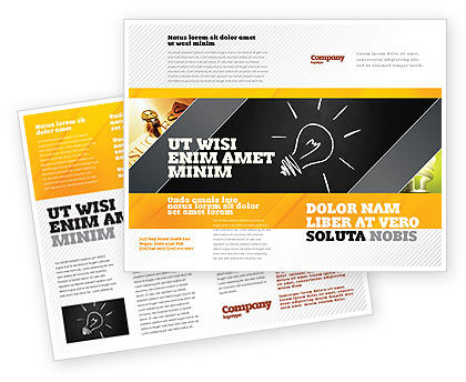 Business Concepts: Brilliant Idea Brochure Template #03860