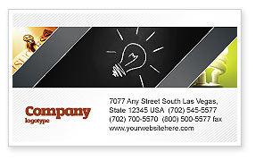 Brilliant Idea Business Card Template, 03860, Business Concepts — PoweredTemplate.com