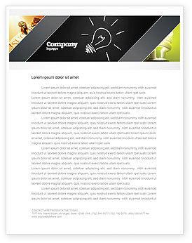 Business Concepts: Brilliant Idea Letterhead Template #03860
