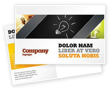 Brilliant Idea Postcard Template, 03860, Business Concepts — PoweredTemplate.com