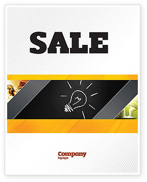 Business Concepts: Brilliant Idea Sale Poster Template #03860