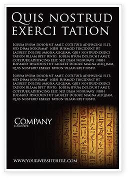 Egyptian Hieroglyphs Ad Template, 03864, Religious/Spiritual — PoweredTemplate.com
