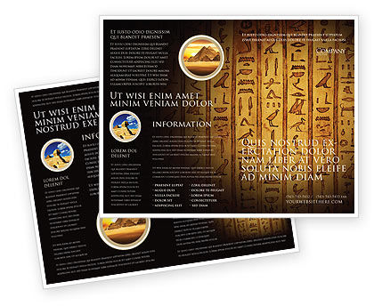 egyptian hieroglyphs brochure template 03864 religiousspiritual poweredtemplatecom