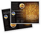 Religious/Spiritual: Egyptian Hieroglyphs Brochure Template #03864