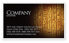 Religious/Spiritual: Egyptian Hieroglyphs Business Card Template #03864