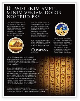Religious/Spiritual: Egyptian Hieroglyphs Flyer Template #03864