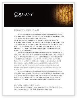Egyptian Hieroglyphs Letterhead Template, 03864, Religious/Spiritual — PoweredTemplate.com