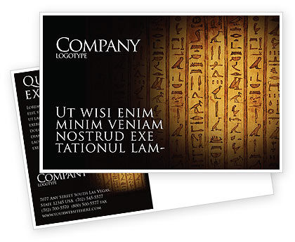 Egyptian Hieroglyphs Postcard Template