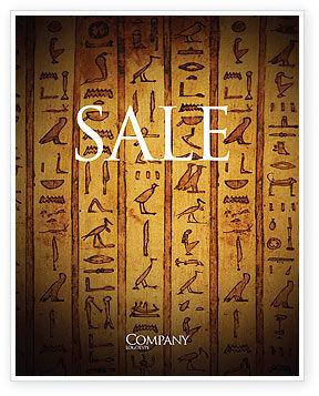 Religious/Spiritual: Egyptian Hieroglyphs Sale Poster Template #03864