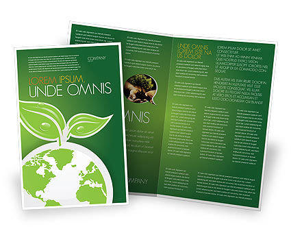 Green Planet Brochure Template, 03867, Nature & Environment — PoweredTemplate.com