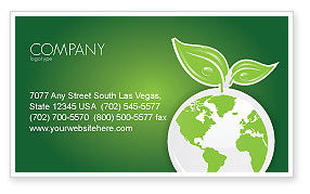 Nature & Environment: Green Planet Business Card Template #03867