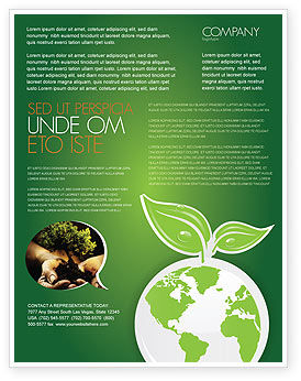 Green Planet Flyer Template, 03867, Nature & Environment — PoweredTemplate.com