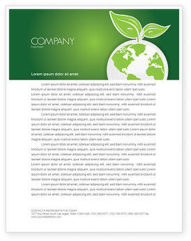 Nature & Environment: Green Planet Letterhead Template #03867