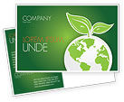 Nature & Environment: Green Planet Postcard Template #03867
