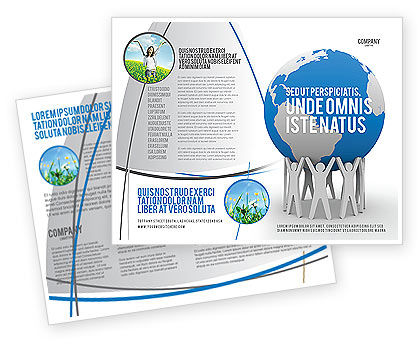 Save the World Brochure Template, 03868, Global — PoweredTemplate.com