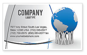 Save the World Business Card Template, 03868, Global — PoweredTemplate.com