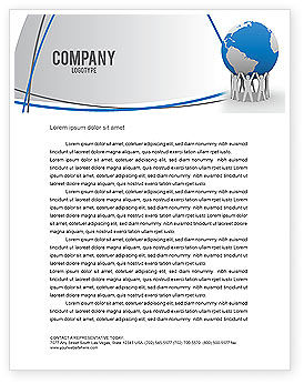 Global: Save the World Letterhead Template #03868