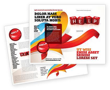 Business Concepts: Help Cubes Brochure Template #03869