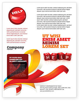 Help Cubes Flyer Template, 03869, Business Concepts — PoweredTemplate.com