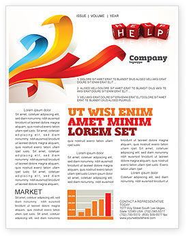 Help Cubes Newsletter Template, 03869, Business Concepts — PoweredTemplate.com
