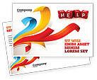 Business Concepts: Help Cubes Postcard Template #03869