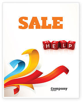 Business Concepts: Help Cubes Sale Poster Template #03869