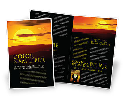 Sunset Brochure Template, 03871, Nature & Environment — PoweredTemplate.com