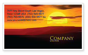 Nature & Environment: Sunset Business Card Template #03871